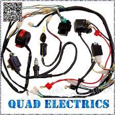 shipping wire loom wiring harness wireloom 50cc 110cc 125cc atv wiring harness cdi coil kill key switch 50cc 110cc 125cc atv quad 12 amazon com chinese