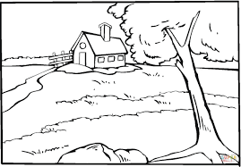 Small Picture Country House Near The River coloring page Free Printable