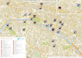 download sightseeing map of paris  major tourist attractions maps