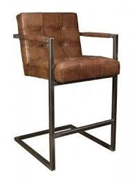bar stool leather iron tufted arm chair buffalo new handmade bar stools e99