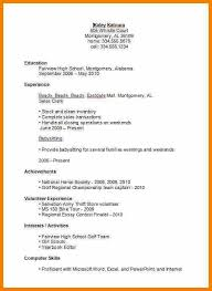 High School Student Resume Examples First Job Filename Msdoti69