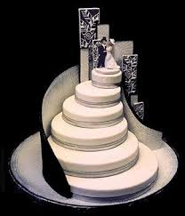 cool wedding cake. cool wedding cake