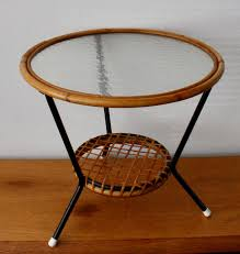 rattan table with glass top catawiki