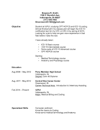 Medical Billing And Coding Resume Cover