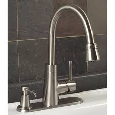 Kitchen Faucet Soap Dispenser Millen Pull Down Kitchen Faucet With Deck Plate Soap Dispenser