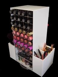 White Makeup Organizer White Rotating 80 Lipstick Makeup Cosmetic Organizer Storage