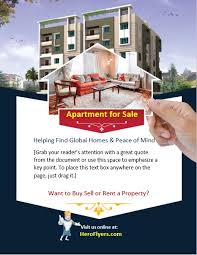Apartment For Sale Flyer Template Hero Flyers