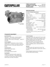 cat c genset spec sheet caterpillar marine power systems cat c280 8 genset spec sheet 1 16 pages