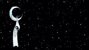 Moon And Stars Wallpaper Black And White