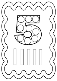 Coloriage Chiffre 5 Colorier Ou Gommettes