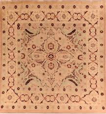 balochi beige square hand knotted 5 9 x 6 0 area rug