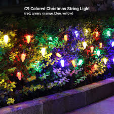 How To Straighten Icicle Lights Dewenwils 2 Pack C9 Led Christmas String Light 2 X 33 3ft 50led Indoor Outdoor Decoration Lights Waterproof Multi Color Light String For Patio