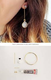 diy earrings and homemade jewelry projects faux labradorite geo drop earrings easy studs