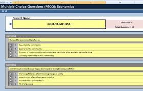 Multiple Questions Test Multiple Choice Test Template Using Excel 15 Questions