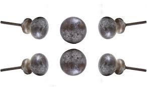 Set Of 6 Nayla Marble Cabinet Drawer Knobs Dresser Cupboard Pull By