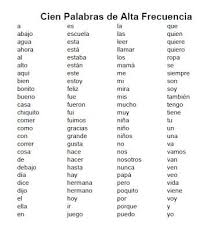 Action Words List Enchanting Here Is A List Of 48 High Frequency Words In Spanish Based On