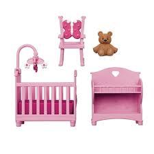 You Me Happy Together Dollhouse Furniture Set Pink Nursery eBay
