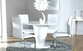white high gloss dining chairs white high gloss round dining table and 4 chairs set white
