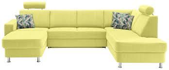 Wohnlandschaft In Textil Gelb