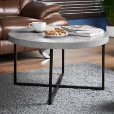 1 of 12free concrete look round coffee table living room modern furniture contemporary style