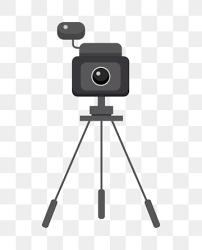 無料ダウンロードのための手描きイラストは電子モニターカメラで使用中