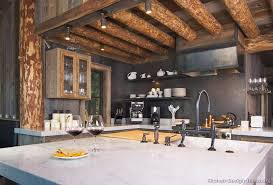 innovative rustic cabin kitchen ideas log home kitchens pictures