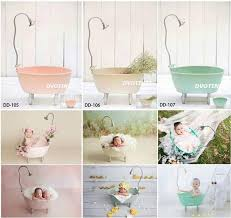 2019 dvotinst newborn photography props iron bathtub shower bucket for baby photo shooting fotografia accessory infantil studio props from dejavui