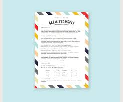 creative resume template with cover letter cv template in stripes cute resume templates