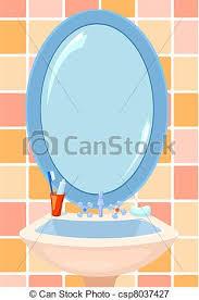 bathroom mirror clipart. mirror in a bathroom - csp8037427 clipart o