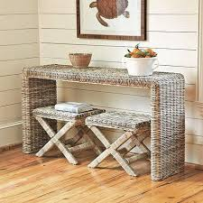 rattan console table. Hailey Console Table Rattan L