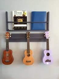 wooden ukulele wall hanger also great