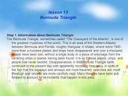 lesson bermuda triangle step information about bermuda lesson 13 bermuda triangle step 1 information about bermuda triangle