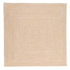 home decorators collection marilyn tweed sunflower 8 ft x 8 ft square braided rug