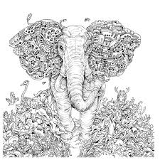 Coloring Pages Abstract Elephant Copy Adult Coloring Pages Free
