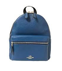 Amazon.com  Coach Mini Charlie Pebble Leather Backpack (SV Atlantic)  Shoes