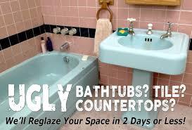 ugly bathroom refinishing