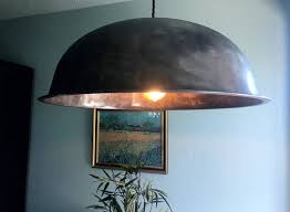 extra large dome pendant light hanging