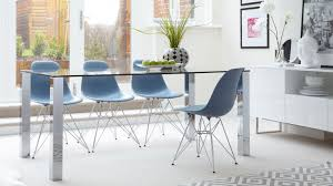 dining table glass and chrome dining table  pythonet home furniture