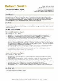 Licensed Insurance Agent Resume Samples Qwikresume
