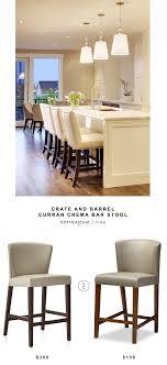crate barrel curran crema bar stool 399 vs baxton studio olivia mid century