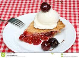 cherry pie slice with ice cream. Unique Pie Cherry Pie And Ice Cream Stock Image For Slice With