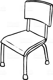 luxury of school chair clipart black and white