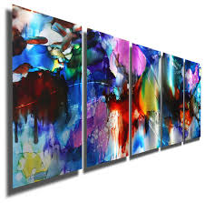 prismatic decorations colorful metal wall art contemporary painting home design beautiful exotic canvas