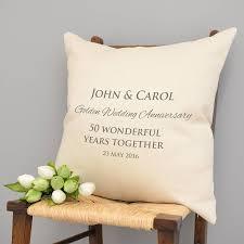 personalised golden wedding anniversary cushion