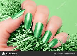 Zelený Nehty Manikúra Stock Fotografie Gyurma 175278502