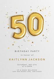 Birthday Party Evites 50th Birthday Invitation Templates Free Greetings Island