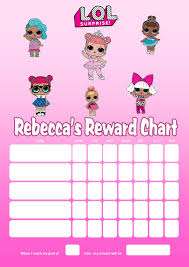 Lol Sticker Chart Personalised Lol Dolls Reward Chart Adding Photo Option Available