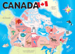 amazoncom ingenio canada map floor puzzle toys  games