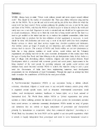 role of ngos in n economy  n economy submitted by mohammed naseer khan 1226114117 2