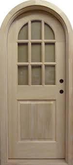 g120rt round top glass panel door
